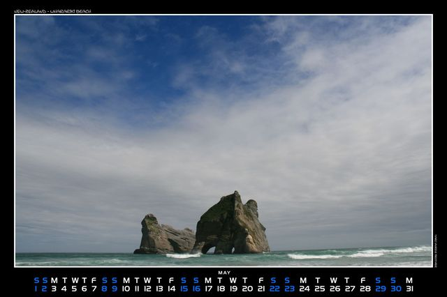 New-Zealand, Wharariki beach