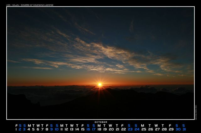 Hawaii, Sunrise at Haleakala crater